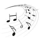 A música nota a clave Imagens de Stock
