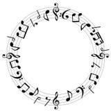 A música nota o fundo Fotografia de Stock Royalty Free