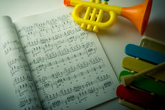 Música para el niño Fotos de archivo libres de regalías
