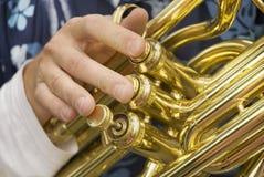 Música pela tuba imagens de stock royalty free