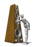 Música - pinche para arriba los oídos stock de ilustración