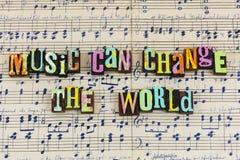 A música pode mudar o mundo ilustração stock