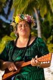 Música polinésia de Tahitian da ilha do Pacífico Fotografia de Stock Royalty Free