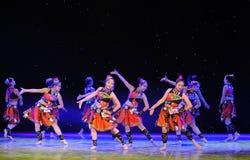 A música popular da mostra do terreno do copiador- da nacionalidade de Yao do campo- fotografia de stock royalty free