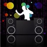 Música poster.DJ. ilustración del vector