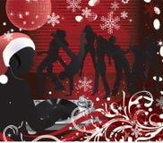 Música poster.DJ de la Navidad ilustración del vector