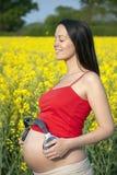 Música prenatal - vinculación Fotografía de archivo libre de regalías