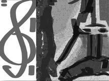 Música preta ilustração stock