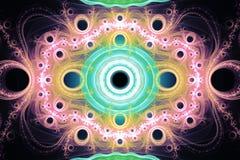 Música psicadélico da galáxia animado do universo do espaço da frequência do fractal ou para algum outro conceito ilustração do vetor