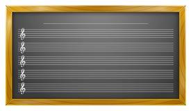 Música, quadro-negro, educação da música, fundos Imagem de Stock