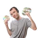 Música que escucha Foto de archivo