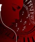 Música que escucha ilustración del vector