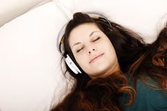 Música que escucha Fotografía de archivo