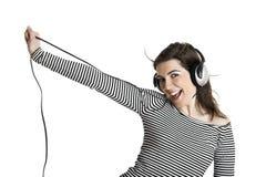 Música que escucha Imagen de archivo