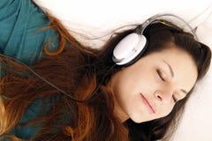 Música que escucha Fotos de archivo