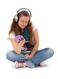 Música que escucha adolescente Imágenes de archivo libres de regalías