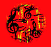 A música quente vai circularmente Foto de Stock