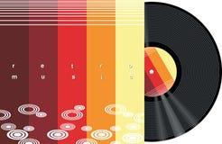 Música retra ilustración del vector