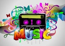 Música retra Imagen de archivo libre de regalías