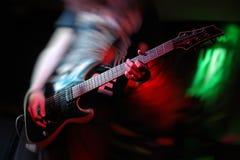 Música rock de la guitarra imagen de archivo