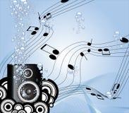 Música sob a água Ilustração do Vetor