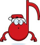 Música surpreendida do Natal dos desenhos animados Foto de Stock