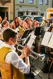 Música tradicional en Bavary Fotos de archivo libres de regalías