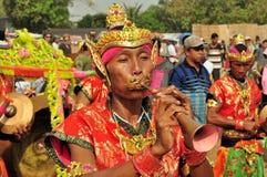 Música tradicional en la raza de Madura Bull, Indonesia Foto de archivo libre de regalías