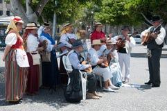 Música tradicional, Tenerife, España Imagen de archivo libre de regalías