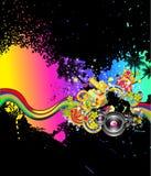 Música tropical e fundo Latin do disco ilustração do vetor
