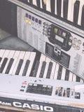 Música velha de Profi do teclado de Casio imagem de stock royalty free