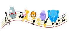Música y animal ilustración del vector