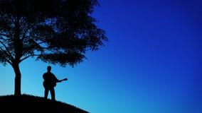 Música y cielo nocturno Imagen de archivo