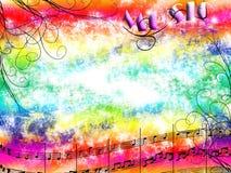 Música y colores Foto de archivo