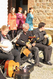 Música y danza irlandesas tradicionales Fotografía de archivo