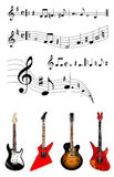 Música y guitarras Fotografía de archivo