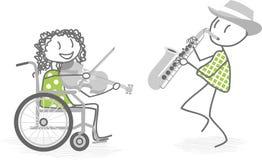 Música y personas discapacitadas Fotografía de archivo
