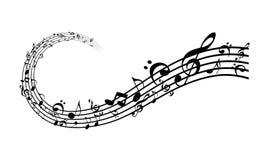 Música y sonido ilustración del vector