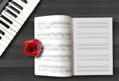 Músicas de amor românticas Foto de Stock