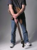Músico 3 de la guitarra baja fotos de archivo libres de regalías