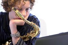 Músico adolescente Imagenes de archivo