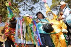 Músico brasileño en el peregrinaje popular Foto de archivo libre de regalías
