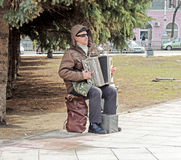 Músico cego Foto de Stock