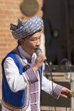 Músico chinês com folhas - Verona Tocati fotos de stock royalty free