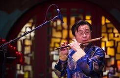 Músico chino Imágenes de archivo libres de regalías