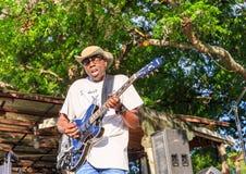 Músico com trabalhos editados Mr dos azuis Sipp, criança dos azuis de Mississippi Fotografia de Stock Royalty Free