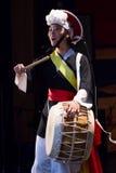 Músico coreano jogador do buk Foto de Stock Royalty Free