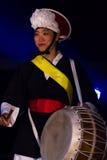 Músico coreano jogador do buk Imagens de Stock