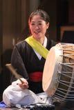 Músico coreano jogador do buk Imagem de Stock