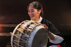 Músico coreano jogador do buk Foto de Stock
